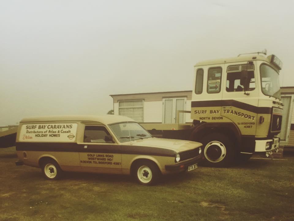 Old photograph of Surf Bay siting a caravan