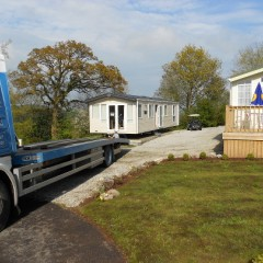 static caravan transportation and siting
